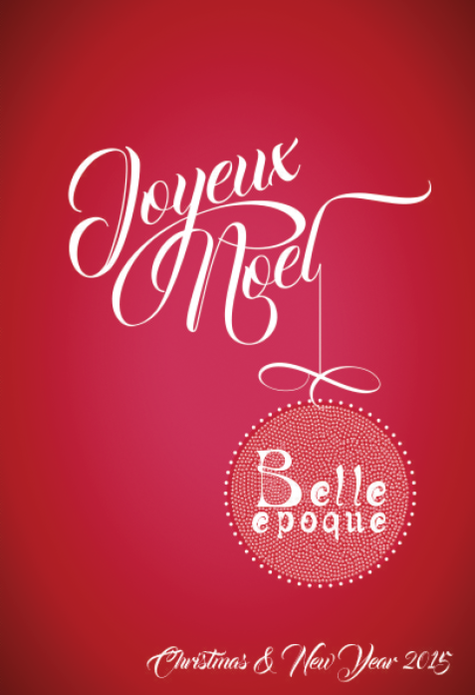 Christmas 2015 at the Belle Epoque, Knutsford, Cheshire