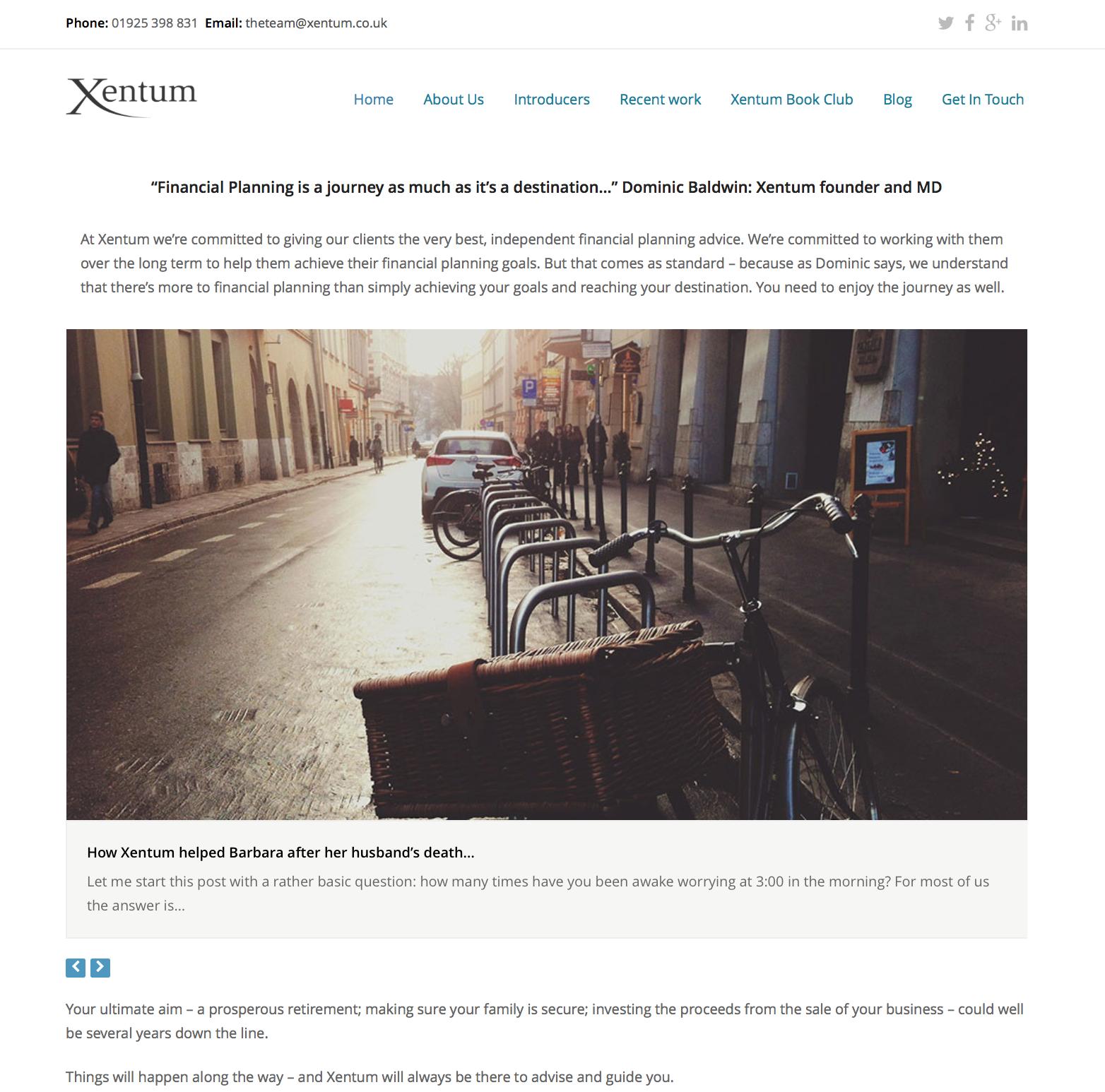 Xentum Website