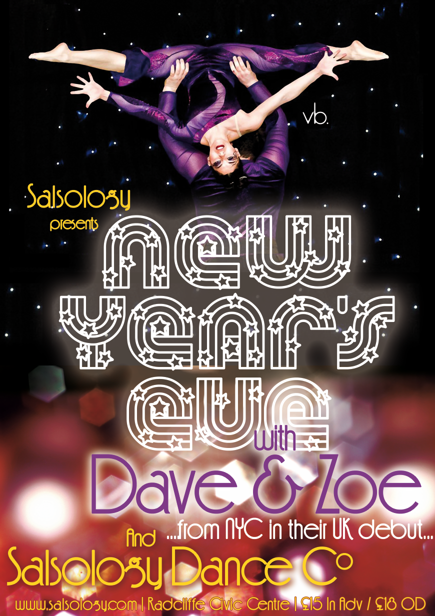 Salsology Salsa Event poster designed by Damsel in Design, Knutsford