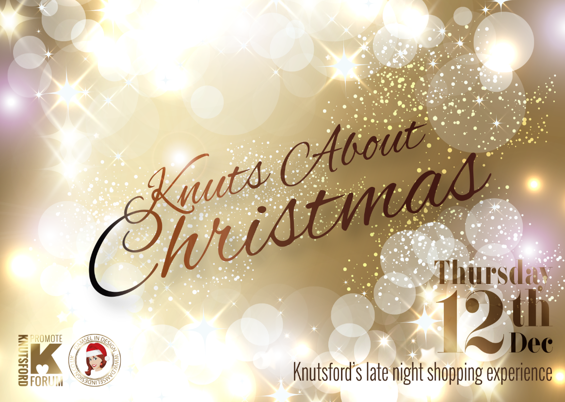 Knuts About Christmas Flyer by Damsel in Design, Knutsford