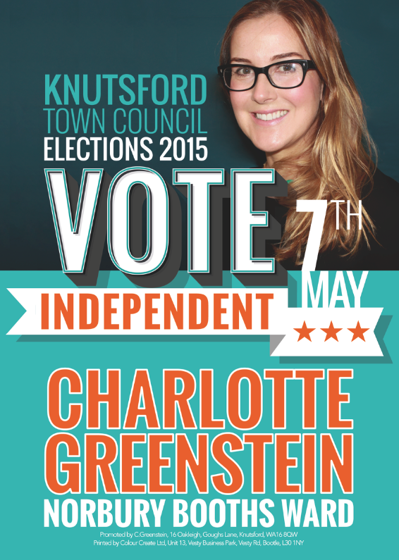 Charlotte Greenstein Independent Cllr, Knutsford Town Council